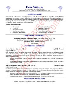 Nursing Resumes Skill Sample Photo | Career | Pinterest | Nursing ...