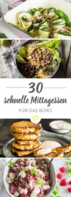 Wir verraten dir 30 leichte Rezepte fürs Mittagessen. Die sind schnell gemacht und liegen nicht schwer im Magen.