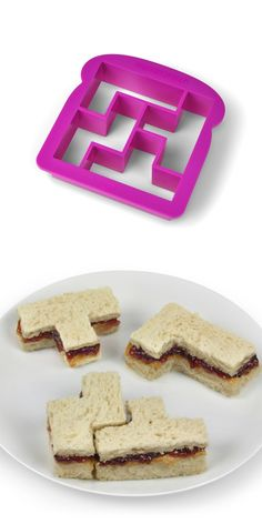 Tetris sandwich cutter. This is fun, but I don't need a special product to cut straight lines.