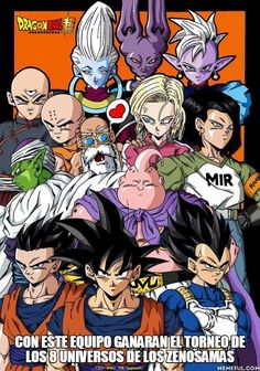 con este equipo ganaran el torneo de los 8 universos de los Zenosamas