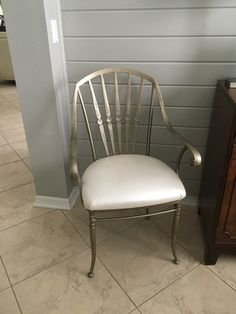 Side chair upholstered in pearl leather reptile embossed fabric. Pretty but wanted something richer Cypress Pine, Embossed Fabric, Upholstered Chairs, Side Chairs, Accent Chairs, Pearl, Pretty, Leather, Furniture