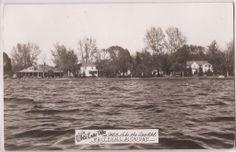 Whitehall Michigan Real Photo RPPC Postcard White Lake Villa 2W 1954 MI Cancel | eBay