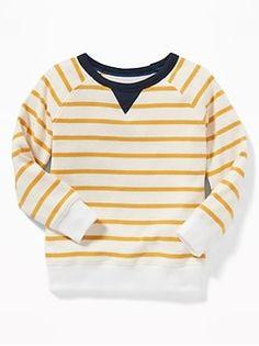 Old Navy Toddlers' Striped Raglan Crew-Neck Sweatshirt Yellow Stripe Regular Size Toddler Boy Gifts, Toddler Boy Outfits, Toddler Boys, Boys Sweaters, Men Sweater, Shop Old Navy, Yellow Sweater, Girls Shopping, Boy Fashion