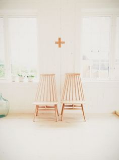 B Y F R Y D | VSCO Grid - such beautiful images. classic, clean, uncluttered, chairs and cross. white / pale palette