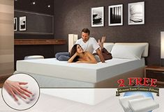 12″ Inch California King Cool Medium-firm Memory Foam Mattress Bed with 2 Free GEL Pillows |
