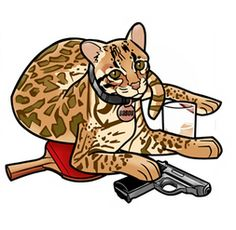 """Archer Babou -- Did you know that Babou is a reference to surrealist painter Salvador Dalí's pet ocelot? (also named """"Babou"""")"""