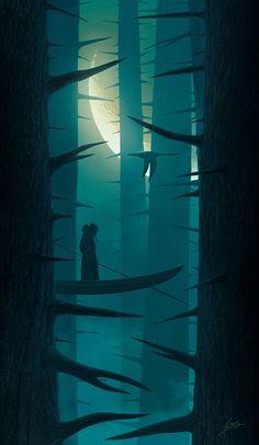 Floating in a dream, Alexey Egorov on ArtStation at https://www.artstation.com/artwork/floating-in-a-dream