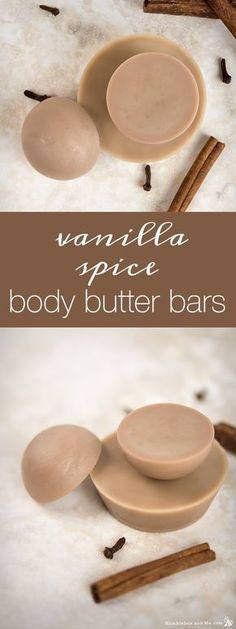 Vanilla Spice Body Butter Bar, Bath and Body Care, Diy Lotion, Lotion Bars, Diy Cosmetic, Diy Peeling, Homemade Body Butter, Homemade Deodorant, Homemade Moisturizer, Butter Bar, Homemade Beauty Products