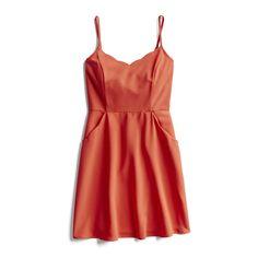 Spring Stylist Picks: Red scalloped dress