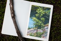 From the sketchbook. | Hanging at my brother's cottage. Mana… | Flickr Poster Colour, Gouache Painting, Weather Conditions, Stationery, Landscape, Nature, Cottage, Inspiration, Tempera