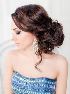 long wedding updo hairstyle for brides