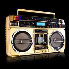 Lasonic I-931X Gold Ghetto Blaster