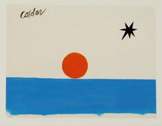 Alexander Calder Untitled, 1950s. Gouache on paper / Feels like a summer beach view...