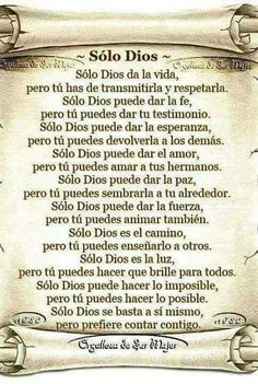 Paz de Dios Faith Quotes, Wisdom Quotes, Spanish Prayers, Tips To Be Happy, Mom Prayers, Prayer For Family, Bible Text, Memories Quotes, Love Phrases