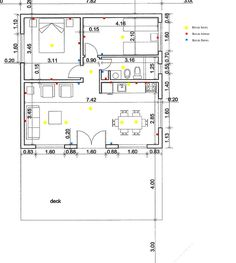 Resultado de imagen para plano de circuito (cañerias) con referencias Line Chart, Deck, Floor Plans, Diagram, House, Mesas De Luz, Circuit, Home Plans, Lights