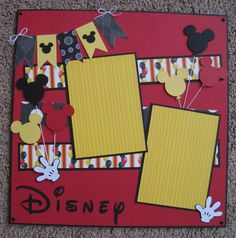 12 x 12 Disney Scrapbook Layout - Mickey Balloons scrapbook disney Ideas Scrapbook, Vacation Scrapbook, Disney Scrapbook Pages, Scrapbook Sketches, Scrapbook Page Layouts, Baby Scrapbook, Scrapbook Paper Crafts, Scrapbook Cards, Scrapbooking Ideas