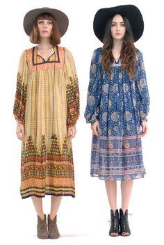 JUDITH ANN Hand-Blocked Silk Indian Dress