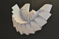 form studies - paper structure by Dora Medveczky, via Behance