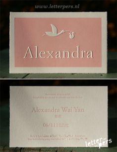 letterpers_letterpress_geboortekaartje_Alexandra_roze_ooievaar_scheprandje_chinees