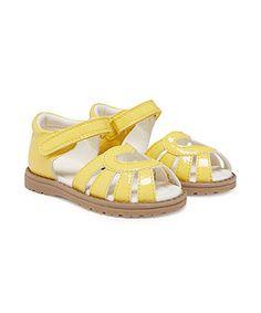2 jr - 7 jr : Mothercare First Walker Lemon Heart Sandals £12
