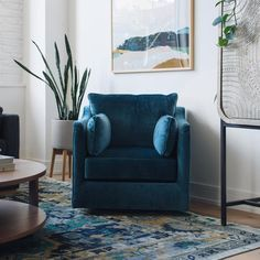 Navy Living Rooms, Living Room Decor, Living Spaces, L Office, Townhouse Interior, Home Projects, Living Room Designs, Family Room, House Design