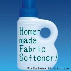 Homemade Fabric Softener! Money Saving & Super Easy!!!