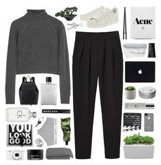 """phoebe"" by cheruhb ❤ liked on Polyvore featuring Monki, T By Alexander Wang, adidas, Mansur Gavriel, Frette, NARS Cosmetics, Hermès, Colbert MD, Incase and Aesop"