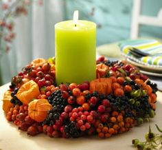 Beautiful Candles Decoration For Special Thanksgiving Moment