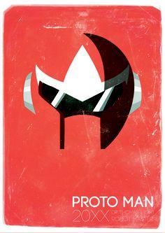 Proto Man Helmet Series  by Cory Payne