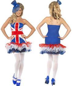 01775ff5 WD Lingerie - FANCY DRESS BRITISH TUTU DRESS / UNION JACK COSTUME / SPICE GIRLS  DRESS