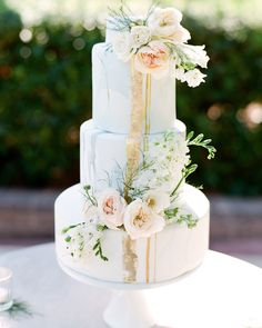To inspire your future warm-weather treat, we've rounded up a selection of summertime wedding cakes, perfect for any type of seasonal wedding—from a black-tie reception in a ballroom to an al fresco garden party, and everything in between. #Wedding #WeddingCakes #Summer #SummerWedding #WeddingCake #WeddingIdeas #CakeIdeas #Buttercream #Fondant #MutliTierCake #WeddingCakes #Colorful | Martha Stewart Weddings - Summer Wedding Cakes That Speak to the Season