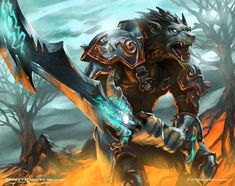 Worgen Death Knight - World of Warcraft