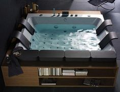 Daily Update Interior House Design: The Thais Art Luxury Jacuzzi Tub Holds Four. And Lots Of Style.