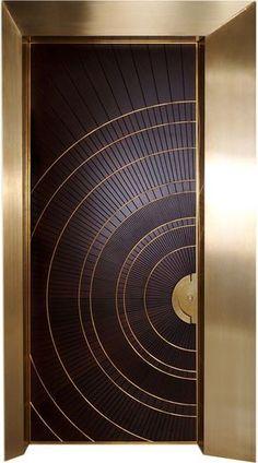 Really like this Art Deco Styled front door ; The Doors, Entrance Doors, Windows And Doors, Main Entrance Door Design, House Entrance, Panel Doors, Doorway, Home Design, Door Design Interior