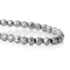 """Find More Beads Information about Dorabeads (Grade A)Natural Hematite Beads Round Silver Tone Faceted About 4mm x 4mm(1/8"""" x 1/8""""),40cm,1 Strand(approx 106PCs) ,High Quality hematite meaning,China bead knitting Suppliers, Cheap beaded silk chiffon fabric from Dorabeads Jewelry on Aliexpress.com"""