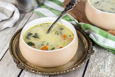 This Chicken Florentine Soup also features mushrooms, tons of veggies, Parmesan cheese, and croutons. Creamy, cheesy, and comforting!