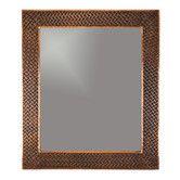 """Found it at Wayfair - Braided 36"""" H x 31"""" W Hand Hammered Copper Mirror"""
