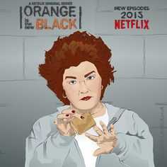 """I'm missing half my zucchini. These girls don't realize I'm here to provide food, not dildos. I'm all out of cucumbers, carrots, beets - God knows what they're doing with those. I can't hold on to anything cook-shaped."" Red from 'Orange is the new black' #oitnb #orangeisthenewblack #netflix #series #fanart #red #galinareznikov #reznikov #illustration #digitaldrawing #drawing #digital #coreldraw #arts_help"