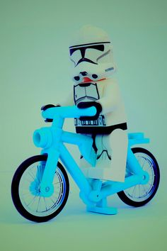 Clone Trooper Biking  #StarWars #Lego #Biking
