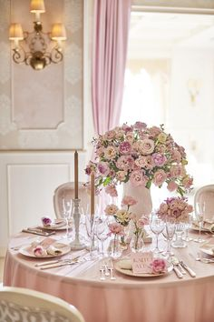Wedding Reception Decorations, Table Decorations, Pink, Furniture, Color, Home Decor, Luxury, Mesas, Flowers