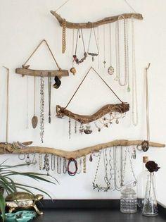 Drift wood jewellery hangers
