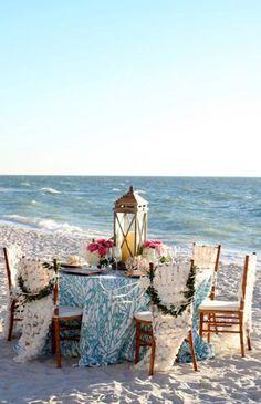 Beach wedding reception ideas - ocean table. #wedding #bridal #destination