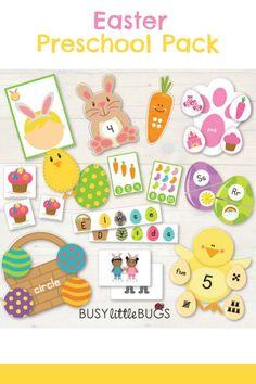 Easter Preschool Pack #easter #preschool #preschoolers #prek #easterbunny #eastereggs #alphabet #abc #affiliate