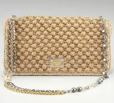 Dolce and Gabana crochet bag. Looks like a popcorn stitch or a bobble. a08082d33a