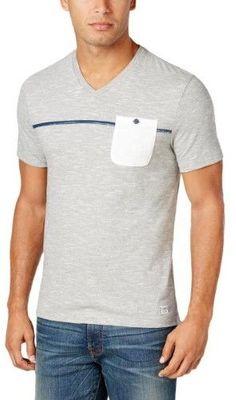 Tommy Hilfiger Mens Denim Jean Slim-Fit Casual Shirt