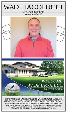 Let's welcome Wade Iacolucci, our new Director of Golf! Make sure to stop by Swinomish Golf Links for our Fall/Winter rates and learn more about him here: http://www.swinomishcasinoandlodge.com/blog/blog/post/welcoming-wade-iacolucci-to-swinomish-golf-links