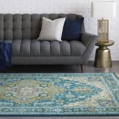 Surya Zeus Area Rug, x Home - Bloomingdale's Teal Green, Green And Brown, Home Decor Trends, Accent Furniture, Main Colors, Decorative Accessories, Area Rugs, Antiques, Classic