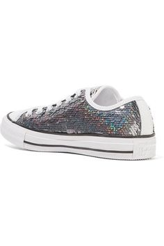 Converse - Chuck Taylor All Star Sequined Canvas Sneakers - Gunmetal - UK8.5