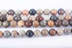 Jewelry Making Beads, Beaded Jewelry, Pearl Beads, Gemstone Beads, Bread Shaping, Beading Supplies, Pearl White, Round Beads, Fossil
