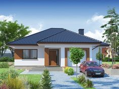 Modern house plans for young couples - Houz Buzz Beautiful House Plans, Simple House Plans, My House Plans, Simple House Design, Modern Bungalow House, Bungalow House Plans, One Storey House, House Outside Design, House Construction Plan